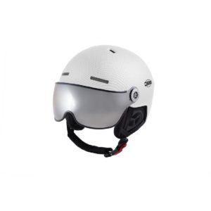 OSBE Aire Visor Ski Helmet White Carbon Look