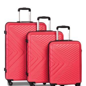 Worldpack Globe Kofferset 41/70/91 Liter Rood 3-delig