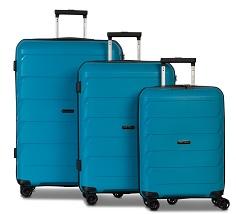 Worldpack Capri Kofferset 32/59/92 Liter Turquoise 3-delig
