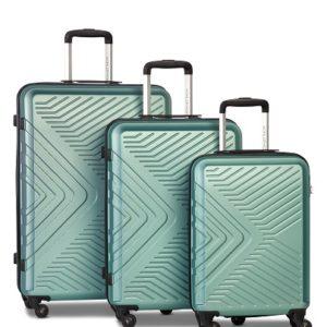 Worldpack Globe Kofferset 41/70/91 Liter Pastelgroen 3-delig
