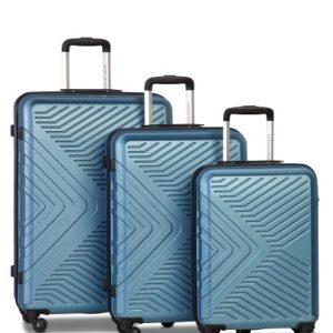 Worldpack Globe Kofferset 41/70/91 Liter Blauwgroen 3-delig