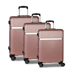 Worldpack Kofferset Orlando 39/72/104 Liter Roze 3-delig